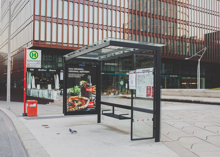 Автобусная остановка в Хафенсити