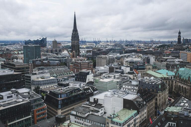 Вид на Гамбург