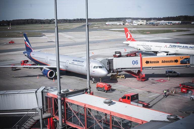 Смотровая площака в аэропорту Гамбурга