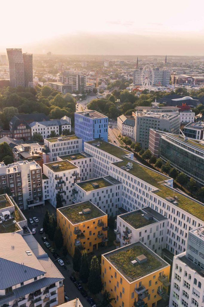 Вид на Гамбург с Михеля