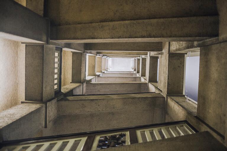 Лестница в налоговом управлении Гамбурга