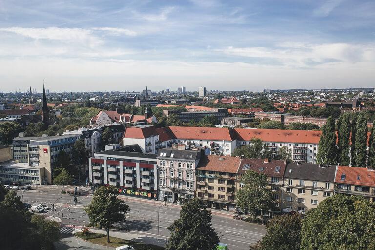 Вид на Гамбург сверху
