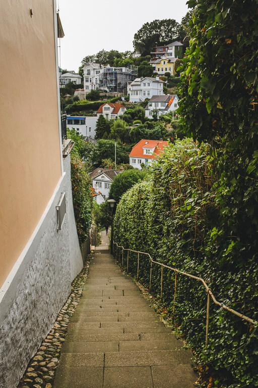 Лестница в Треппенфиртеле, Бланкенезе, Гамбург