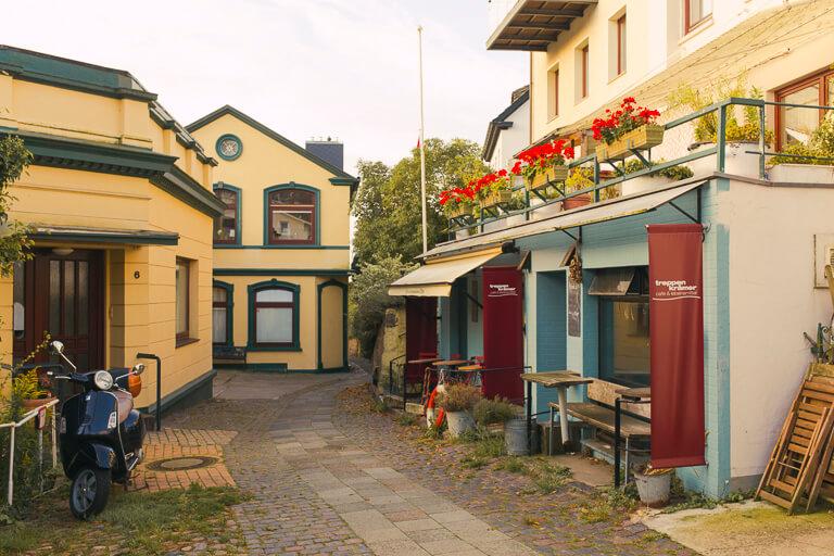 Кафе Treppenkraemer в Треппенфиртеле, Бланкенезе, Гамбург
