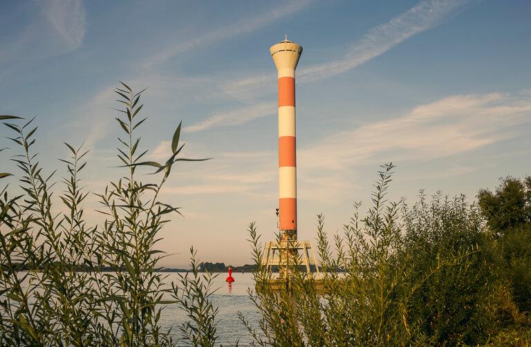 Маяк на берегу Эльбы, Бланкенезе, Гамбург