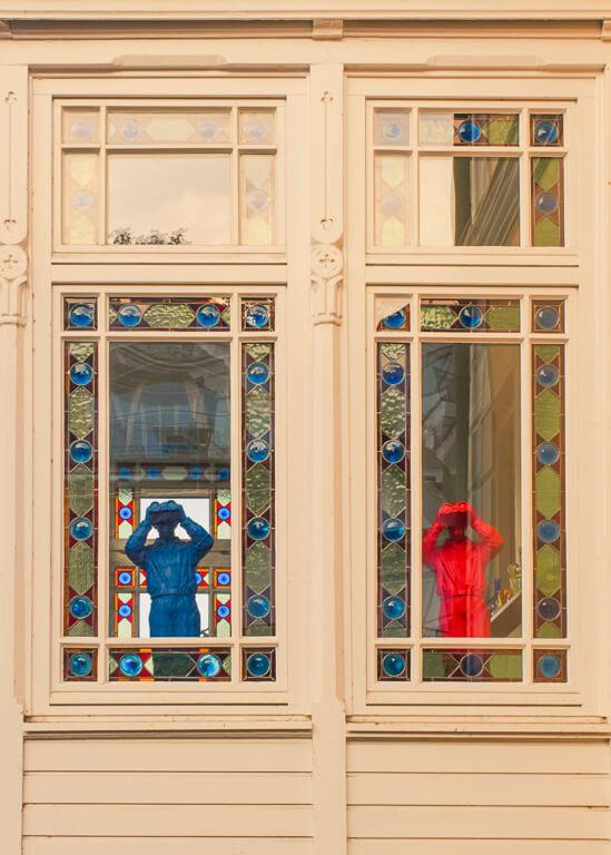 Окна в Треппенфиртеле, Бланкенезе, Гамбург