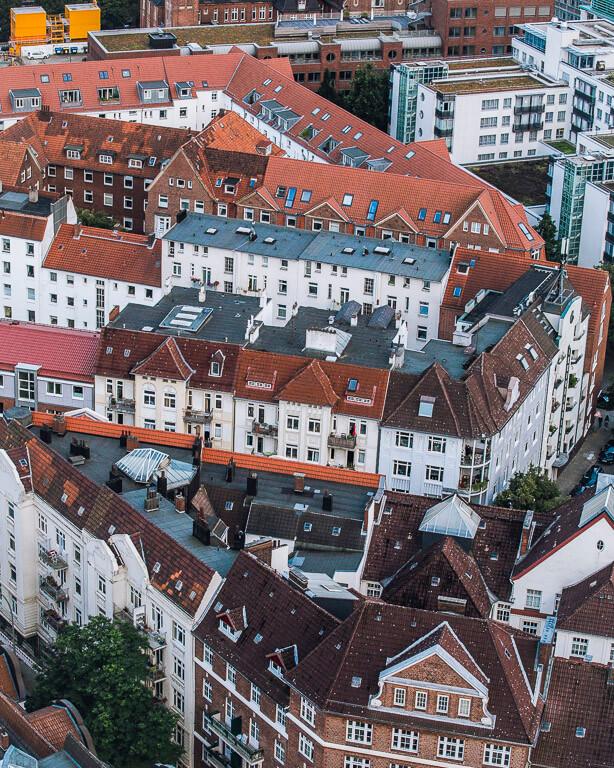 Нойштадт, вид сверху, Гамбург