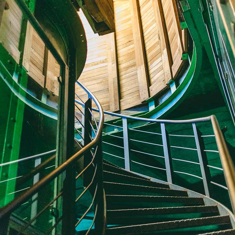 Лестница внутри колокольни церкви Св. Михаила, Гамбург