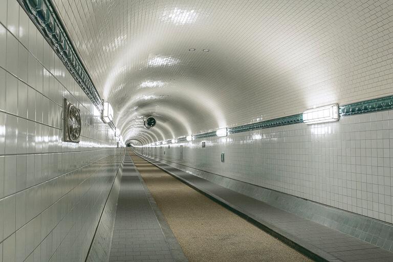 Старый туннель под Эльбой, Гамбург