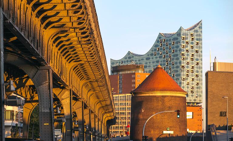 Эстакада метро в Гамбурге